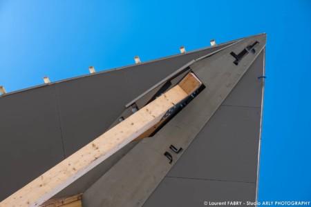 Tignes (73) Construction Du Diamond Rock, Un Hôtel 5 étoiles